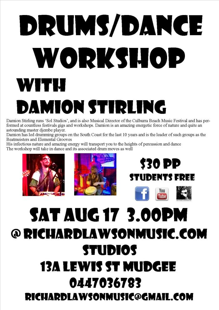 Damion Stirling workshop Aug 17 2013