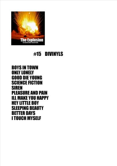 Explosion playlist #15 DIVINYLS NOV 20 2017