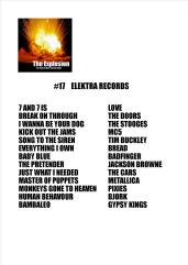 Explosion playlist #17 Elektra Records Jan 25 2018