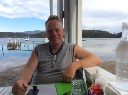 Relaxing for brunch Quarterdeck Narooma 2017