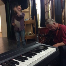 Rehearsing for Play with Sam Paine Dubbo Oct 2017
